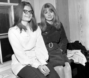 Jane with her younger sister, Clare (b. 1948)