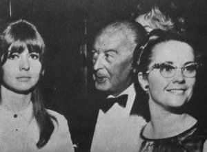 Джейн Эшер с отцом и мачехой Пола.