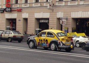 вот такая штука ехала по Невскому за 3 часа до концерта