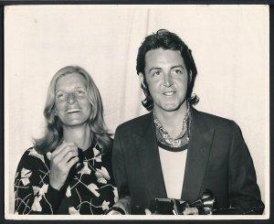 Пол и Линда Маккартни на Grammy 1971
