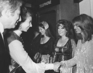 Jane Asher meets Princess Anne.