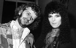 1973, Ringo & Maureen at a party honoring David Bowie.