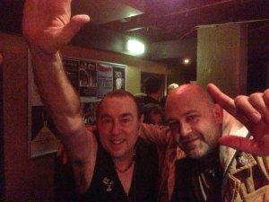в одном из Лондонских клубов с Дэвидом Суркампом пару-тройку лет назад -