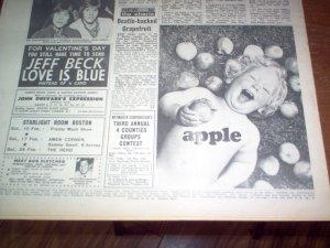Реклама битловской компании Apple в газете New Musical Express от 10 февраля 1968 # 1100.