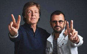 Paul McCartney and Ringo Starr photographed at a promotional day at Abbey Road Studios on Wednesday, the eve of the cinematic release of the new Ron Howard documentary 'The Beatles: Eight Days A Week - The Touring Years'