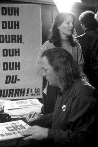 Дейвид Гилмор в студии Би-Би-Си (30/11/1989).