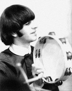 * Ringo Starr recording Revolver, 1966.