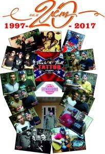 27-го марта 1997 года, начала работу старейшая в Донецке - ROCK`N`ROLL TATTOO studio. 20 лет! За это время через студию прошли - известные спортсмены, музыканты, тысячи дончан и гостей города. 20 лет - это репутация. Профессионализм и качество - вот принципы работы  ROCK`N`ROLL TATTOO studio