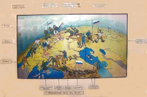 Белый плакат с составом антибольшевистских сил 1919