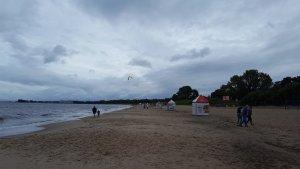 Не Одесса, но тоже море. Не очень спокойное и ветренное, но как не искупаться в море!