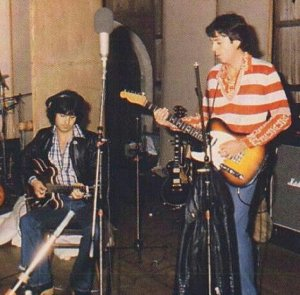 * Lawrence Juber and Paul McCartney recording.