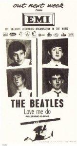 Реклама выпуска Love Me Do 5 октября 1962
