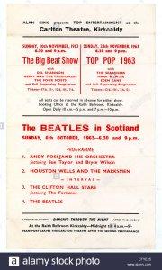 6 октября 1963  Концерт Битлз: Carlton Theatre, Kirkcaldy, Шотландия