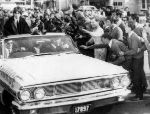 The Beatles arriving in Adelaide, 12 June 1964.