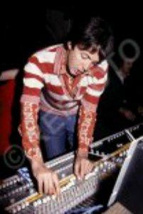 * Paul McCartney at the studio desk at Lympne Castle, 1978. (Жаль снимок плохого качества...)