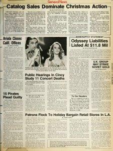 Billboard, Dec. 22, 1979 - начало статьи: U.K. Group May Strike Soviet Gold.