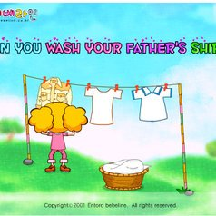 055)  CAN YOU WASH YOUR FATHER'S SHIRTS? /4/  (Trad.)