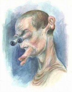 Рисунок обыкновенного сумасшедшего из провинциальной клиники, а купил эту картину наверное врач,который недавно сам был пациентом...