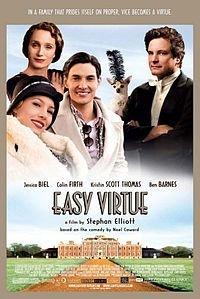 Посмотрел два фильма, оба по пьесам Ноэля Коуарда - Easy Virtue (Легкое поведение) Relative Values (Голубая кровь) - перевод второго названия озадачил, но таким уж он уродился. Тема одна и та же, вторжение в семейство английской аристократии американской избранницы одного из сыновей, и что из этого выходит. Комедии-мелодрамы, романтические комедии, но в обеих отличные актеры заняты. Качественные фильмы на один качественный просмотр.