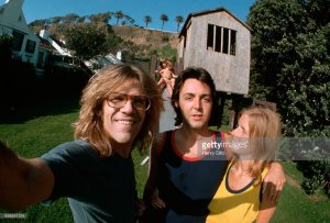 * Henry Diltz With Paul and Linda McCartney.