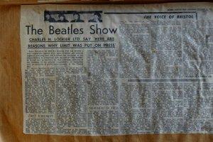 Статья об этих концертах в бристольской газете. (Фото, возможно, тоже сделано в Бристоле).