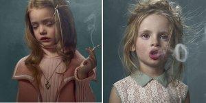 «Курящие дети»: фотопроект о красоте и уродстве курения.