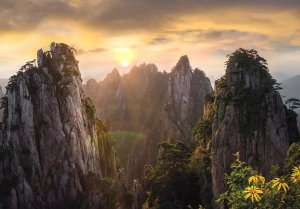 Yellow Mountain, Anhui Province, China by Callie Chee