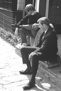 John and Sean O' Mahony during a photo shoot at RIngo's home Sunny Heights, Weybridge, May 31, 1966.