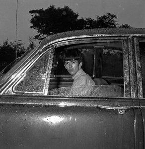 1963.07.15 - Liverpool. George and jaguar (дата условная)