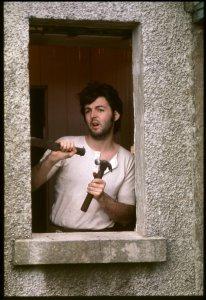 Paul in Scotland. Photo by Linda McCartney