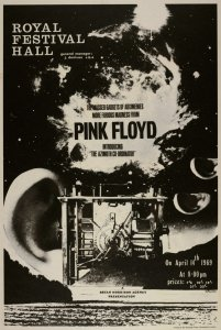 Poster for a concert in Royal Festival Hall, 14 April 1969.
