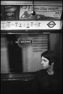 On the Bakerloo Line, London. Photo by Linda McCartney