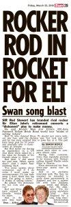 Вообще-то этот прощальный тур на 300 концертов попахивает деньгами, — соловей об Элтоне Джоне.