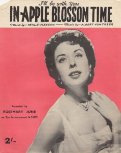 "534) ""I'LL BE WITH YOU"" IN APPLE BLOSSOM TIME  (Albert Von Tilzer / Neville Fleeson) /1/"