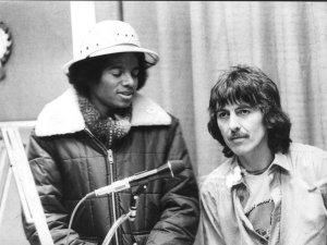 Один единственный раз Майкл Джексон и Джордж Харрисон встретились на британском радио 9 февраля 1979 года.