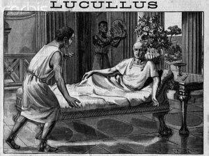Лукулл показывает приятелям свою усадьбу.
