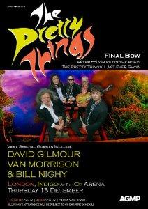 Дэвид Гилмор выступит в качестве приглашённого гостя на финальном электрическом выступлении The Pretty Things, знаменующем окончание 55-летней концертной карьеры коллектива, которое состоится 13 декабря 2018 года в зале Индиго О2 в Лондоне.