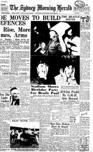Sydney Morning Herald, 19 июня 1964 года, первая страница