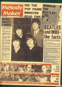 Melody Maker назвал это: Битлз получают свои MBE.  19 июня 1965 года