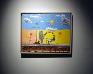 Удивительно, что никто не задался вопросом про странную обложку. А между тем, все становиться на свои места, если вы посмотрите на персональную выставку картин сэра еще в далеком 2008 году, выставленной в PinchukArtCentre (Egypt station, 1988 acrylic on canvas).