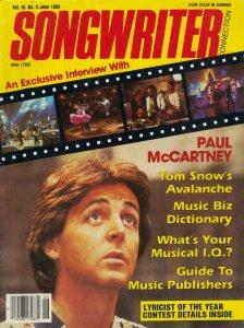 SONGWRITER  июнь 1985