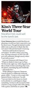 Kiss в январе отправляются на всемирные трёхлетние прощальные гастроли. Джин Симмонс в интервью шведской газете Expressen выразил желание посотрудничать с ABBA.