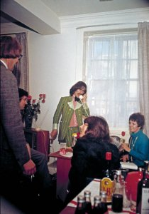 * George Harrison at Apple Corps. Arguments over the business venture led to the band splitting up (Tom Hanley.