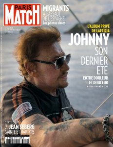 Джонни – Последнее лето  Paris Match 2 August 2018.