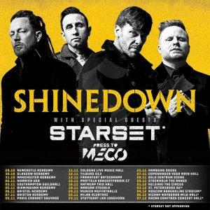 Моя любимая группа Shinedown приезжает опять, 4 декабря в Москве))),чет далековато их адресовали, клуб  Adrenaline Stadium аж на Соколе)))), нет шоб в Кремле организовать или в Крокусе)))..
