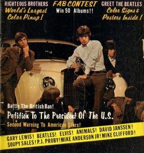 20th May 1965 - US TV (ABC) 'Shindig!', Los Angeles. С жёлтым Роллс-Ройсом.