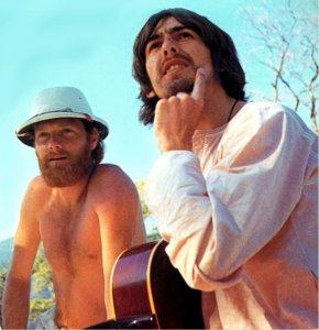Основная работа Пола над песней «Back in the USSR» пришлась на период пребывания Битлз в Ришикеше. Там же с ними был и вокалист группы The Beach Boys Майк Лав, который позднее утверждал, что он помогал Полу написать эту песню. Во всяком случае он посоветовал Полу что-нибудь спеть о русских девушках, как в песне «California Girls» его группа в своё время спела об американских.