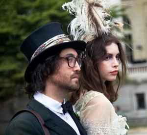 Sean Lennon with girlfriend.