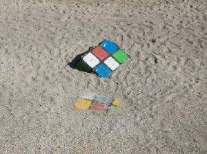 На 11 станции, на пляже, нашлись кубики Рубика. Жанна, это не ты случайно потеряла?