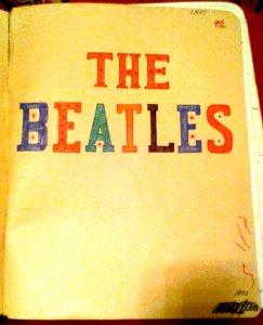 В военном училище,я вел два конспекта, касающиеся БИТЛЗ. В одном - прилежно записывал дискографию группы, в другом - тексты песен. Первый конспект подарил приятелю, а второй, начатый в 1973 году - сохранился.